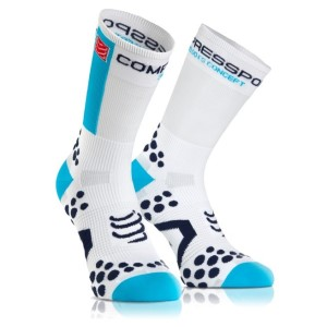 Compressport Cycle Socks - White/Blue