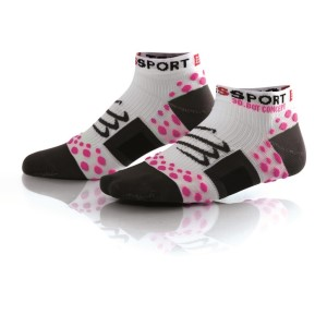 Compressport V1 Low Cut Socks - White/Pink