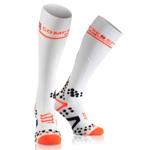 Compressport Full Compression Socks - White
