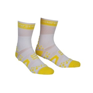 Compressport V2 Cycle Socks - White/Yellow