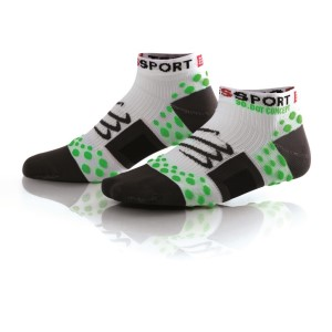 Compressport V1 Low Cut Socks - White/Green
