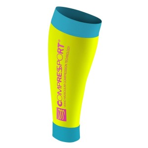 Compressport R2 Compression Calf Sleeves - FLUO Yellow