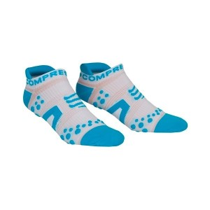 Compressport V2 Low Cut Socks - White/Blue
