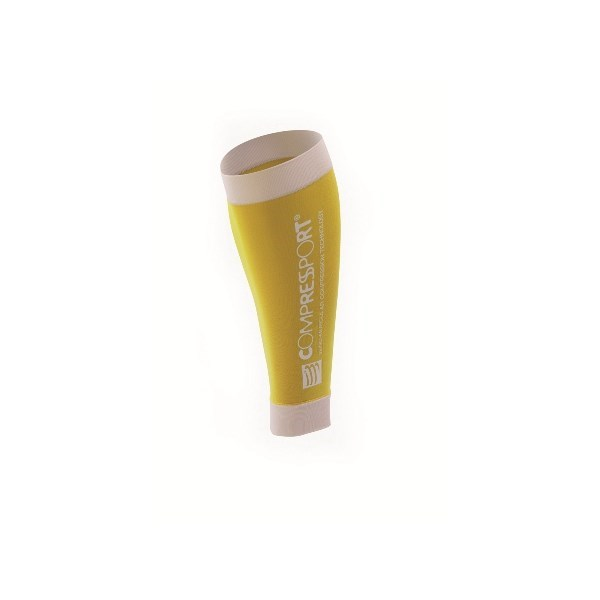 Compressport R2 Compression Calf Sleeves - Yellow