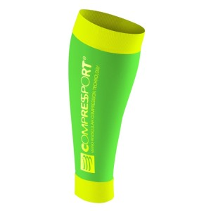 Compressport R2 Compression Calf Sleeves - FLUO Green