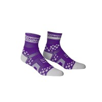 Compressport FLUO Running Socks - Purple